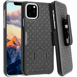 "Apple iPhone 11 Pro Max 6.5"" (2019) Rome Tech Shell Holster Combo Case - Black"