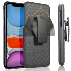 "Apple iPhone 12 Mini 5.4"" (2020) Rome Tech Shell Holster Combo Case - Black"