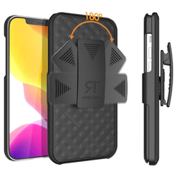 "Apple iPhone 12 Pro Max 6.7"" (2020) Rome Tech Shell Holster Combo Case - Black"