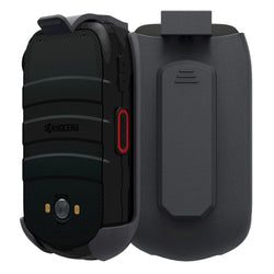 Kyocera DuraXV LTE Rome Tech Holster Case with Belt Clip - Black