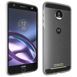Motorola Moto Z Droid Bumper Case Cover - Clear