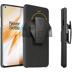 OnePlus 8 Case with Belt Clip - Slim Heavy Duty One Plus 8 Protective Case with Kickstand Clip Holster - Black