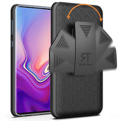 Samsung Galaxy S10e Case with Belt Clip - Slim Heavy Duty Samsung Galaxy S10 e Protective Case with Kickstand Clip Holster - Black