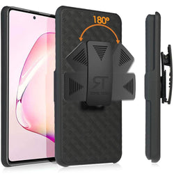 Samsung Galaxy Note 10 Lite Case with Belt Clip - Slim Heavy Duty Samsung Galaxy Note 10 Lite Protective Case with Kickstand Clip Holster - Black