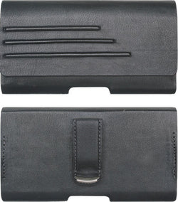 Universal Leather Pouch for Medium Phones 5.7 x 3.1 x 1.5 - Black