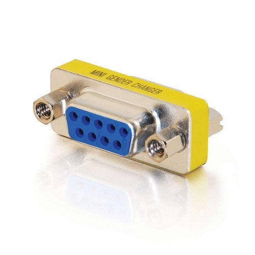 DB9 FEMALE/FEMALE SERIAL RS232 MINI GENDER CHANGER (COUPLER)