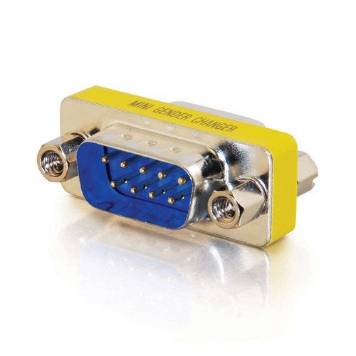 DB9 MALE/MALE SERIAL RS232 MINI GENDER CHANGER (COUPLER)