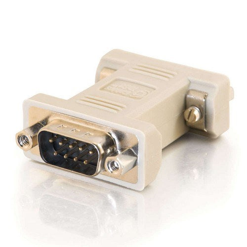 DB9 (M) MALE TO DB9 (F) FEMALE SERIAL RS232 NULL MODEM ADAPTER - BEIGE