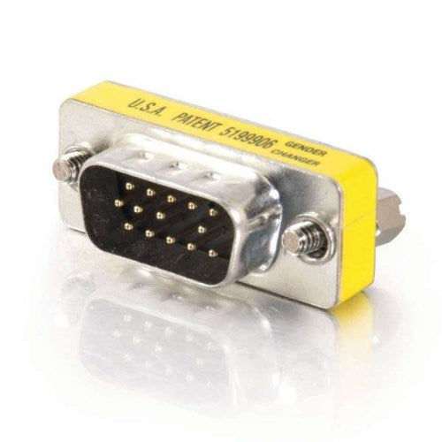 HD15 VGA (M) MALE TO (HD15 VGA (M) MALE MINI GENDER CHANGER (COUPLER)