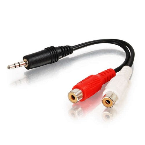 VALUE SERIES™ (1) STEREO 3.5MM (M) MALE TO (2) STEREO RCA (F) FEMALE AUDIO ADAPTER Y-CABLE