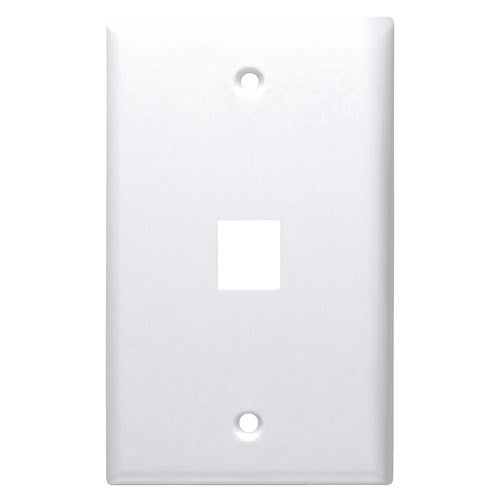 STANDARD MODULAR KEYSTONE WALL PLATE FOR SNAP-IN INSERTS