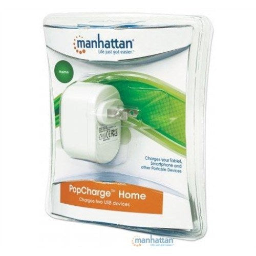 2 PORT HOME POPCHARGE - WHITE [3 YEAR WARRANTY]