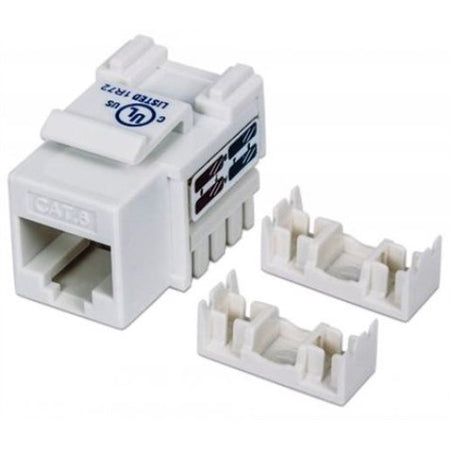 CAT6 UNSHIELDED (UTP) PUNCH-DOWN (F) FEMALE RJ-45 SNAP-IN KEYSTONE CONNECTOR