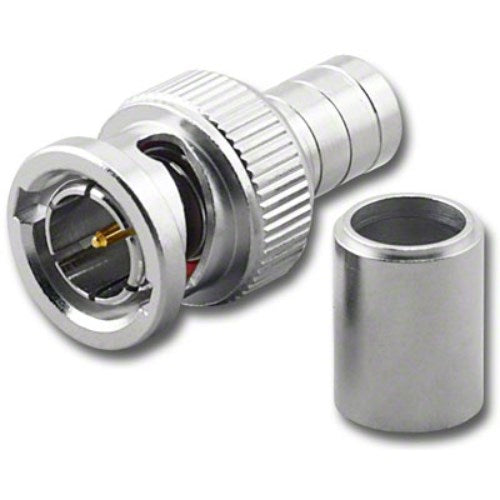 BNC (M) MALE 2-PIECE CRIMP CONNECTOR FOR RG-6/U 75 OHM COAX