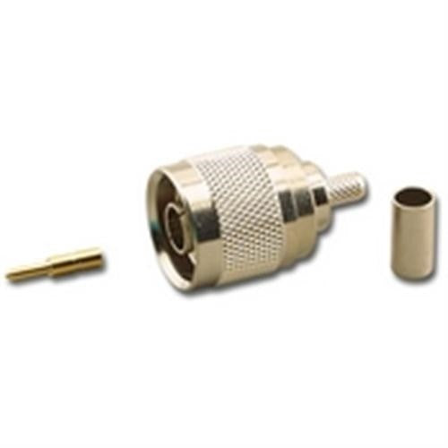 N-TYPE (M) MALE 3-PIECE CRIMP CONNECTOR FOR RG-58A/U STRANDED 50 OHM COAX