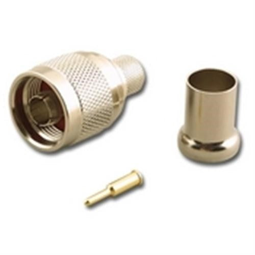 N-TYPE (M) MALE 3-PIECE CRIMP CONNECTOR FOR RG-8/U 50 OHM COAX