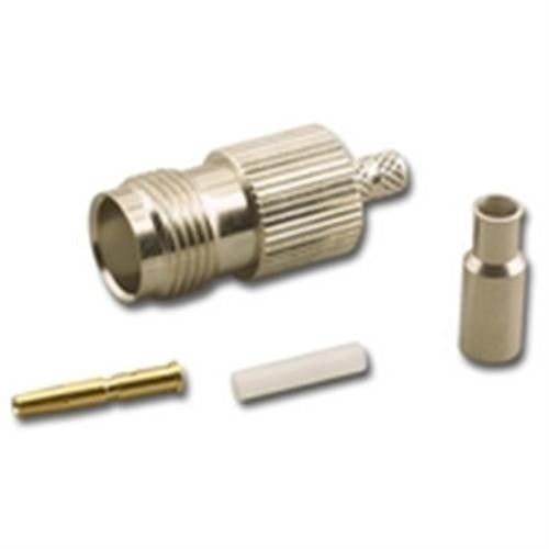 TNC (F) FEMALE 3-PIECE CRIMP CONNECTOR FOR RG-174/U 50 OHM COAX