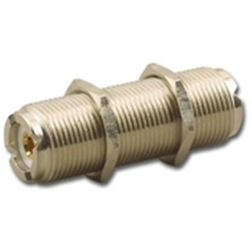IN-LINE SPLICE BULKHEAD ADAPTER, UHF (F) FEMALE TO UHF (F) FEMALE