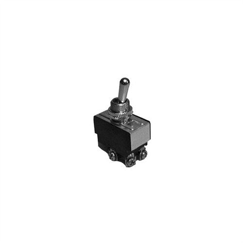 HEAVY DUTY BAT HANDLE TOGGLE SWITCH, DPDT, (ON)-OFF-(ON), SCREW TERMINALS [METAL]