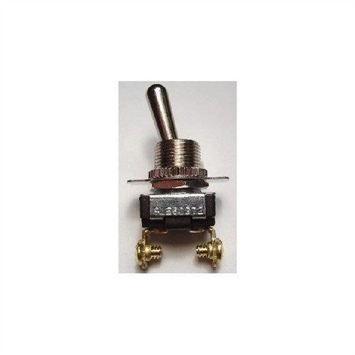 STANDARD SIZE BAT HANDLE TOGGLE SWITCH, SPST, ON-OFF, SCREW TERMINALS [METAL]