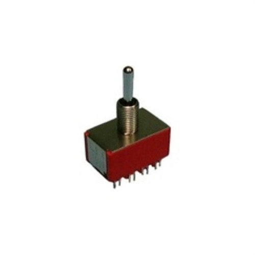 MINIATURE TOGGLE SWITCH, 4PDT, ON-OFF-ON, SOLDER TERMINALS [METAL]