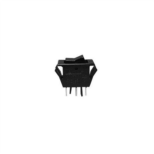 "STANDARD SIZE ROCKER SWITCH, SPDT, ON-ON, .250"" QUICK CONNECT TERMINALS [BLACK]"
