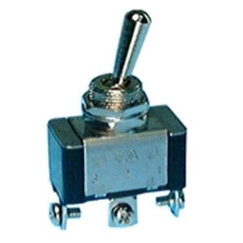 STANDARD SIZE BAT HANDLE TOGGLE SWITCH, SPDT, ON-ON, SCREW TERMINALS [METAL]