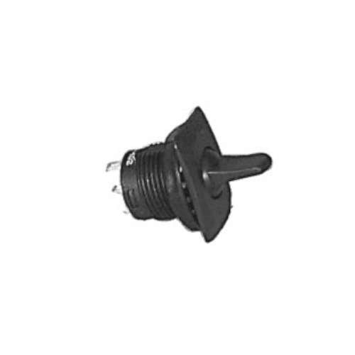 ROUND PADDLE LEVER TOGGLE SWITCH, SPST, ON-OFF, SOLDER TERMINALS [BLACK]