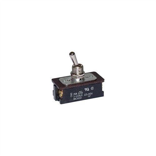 HEAVY DUTY TOGGLE SWITCH FOR AC/DC MOTOR CONTROL, DPST, ON-OFF, SCREW TERMINALS [METAL]