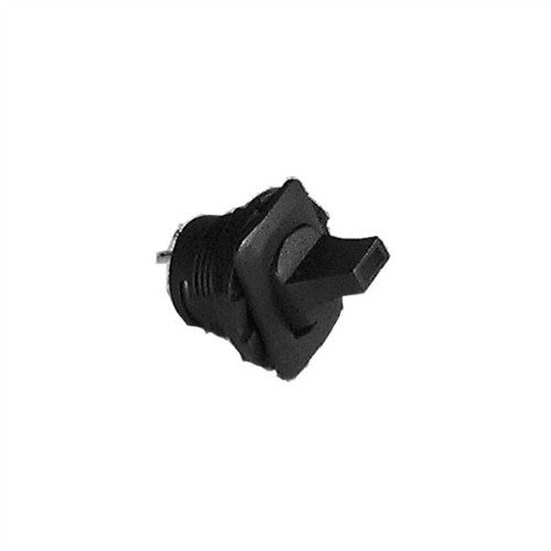 ROUND PADDLE LEVER TOGGLE SWITCH, DPDT, ON-OFF-ON, SOLDER TERMINALS [BLACK]