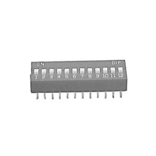 DIP SWITCH, 8 POSITION, RIGHT ANGLE, SOLDER TERMINALS [WHITE]