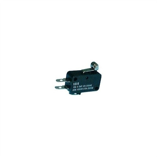 "MINIATURE SNAP ACTION MOMENTARY SWITCH WITH SHORT ROLLER LEVER, SPDT, .187"" QUICK CONNECT TERMINALS [BLACK]"