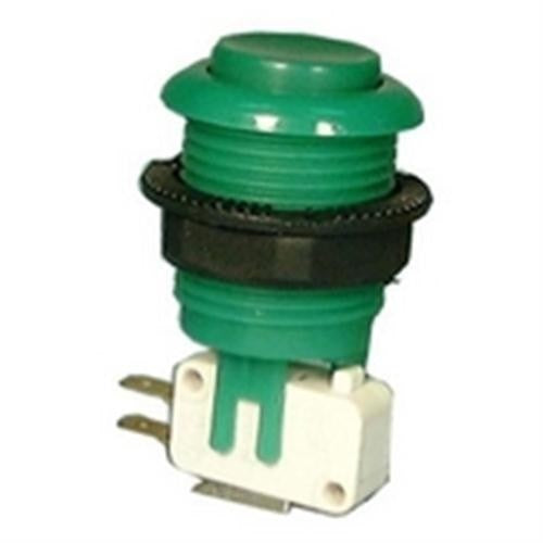 "ACTION PUSH BUTTON SWITCH, SPDT, OFF-(ON), .187"" QUICK CONNECT TERMINALS [RED]"