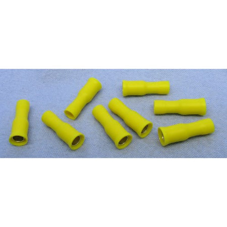 "12-10 AWG (F) FEMALE VINYL FULLY INSULATED BULLET CONNECTOR TERMINALS, .032"" THICKNESS, .195"" WIDTH"