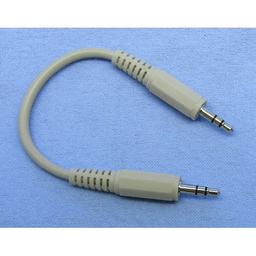 MEDIASTAR 3.5MM STEREO (M) MALE TO 3.5MM STEREO (M) MALE AUDIO CABLE, 6 IN.
