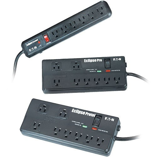 ECLIPSE PRO 1800W, 6' 5-15P LINE CORD, OUTPUTS: (8) 5-15R, SURGE SUPPRESSOR