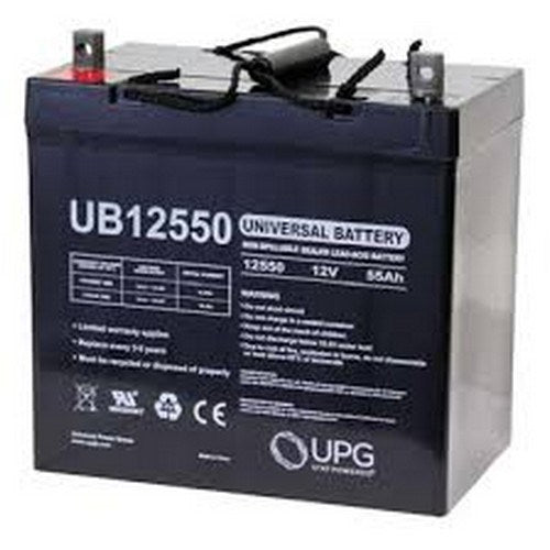 UB12550 12V 55AH (+ ON LEFT) Z1 AGM SEALED LEAD-ACID (SLA) BATTERY