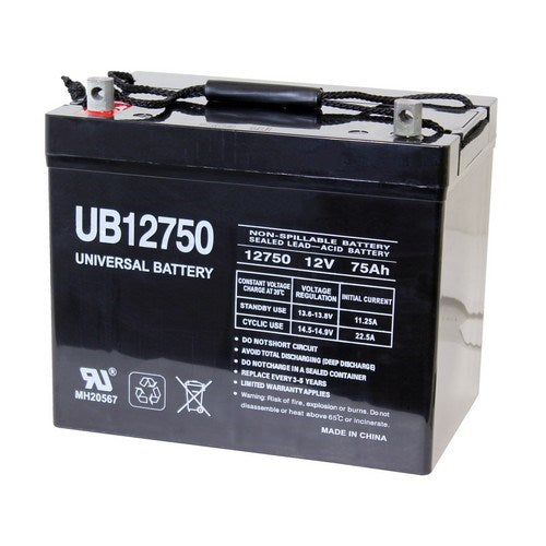UB12750 12V 75AH Z1 AGM SEALED LEAD-ACID (SLA) BATTERY