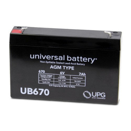 UB670 6V 7AH F1 AGM SEALED LEAD-ACID (SLA) BATTERY