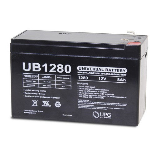 UB1280 12V 8AH F1 AGM SEALED LEAD-ACID (SLA) BATTERY
