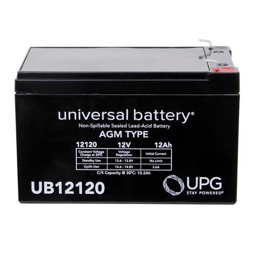 UB12120 12V 12AH F2 AGM SEALED LEAD-ACID (SLA) BATTERY