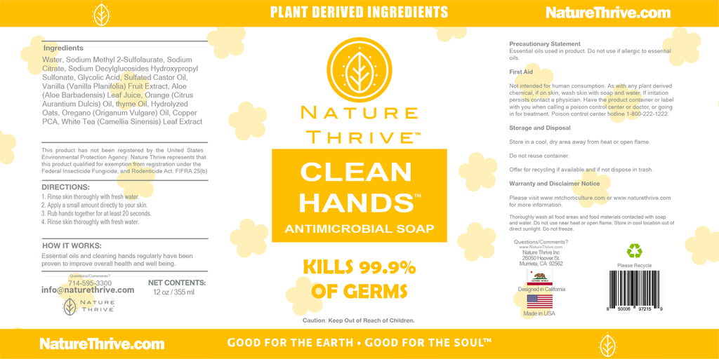 CLEAN HANDS ANTI-MICROBIAL SOAP