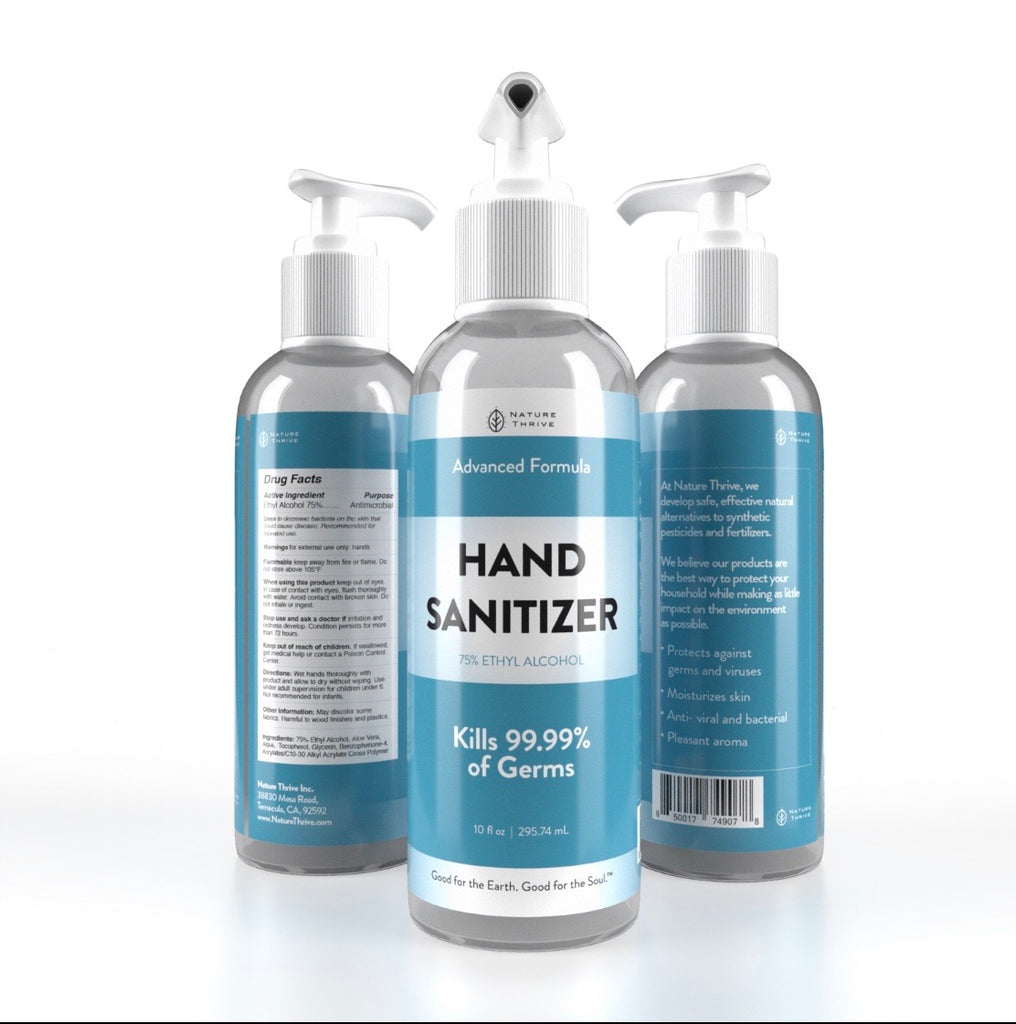 HAND SANITIZER 75% ALCOHOL - Nature Thrive