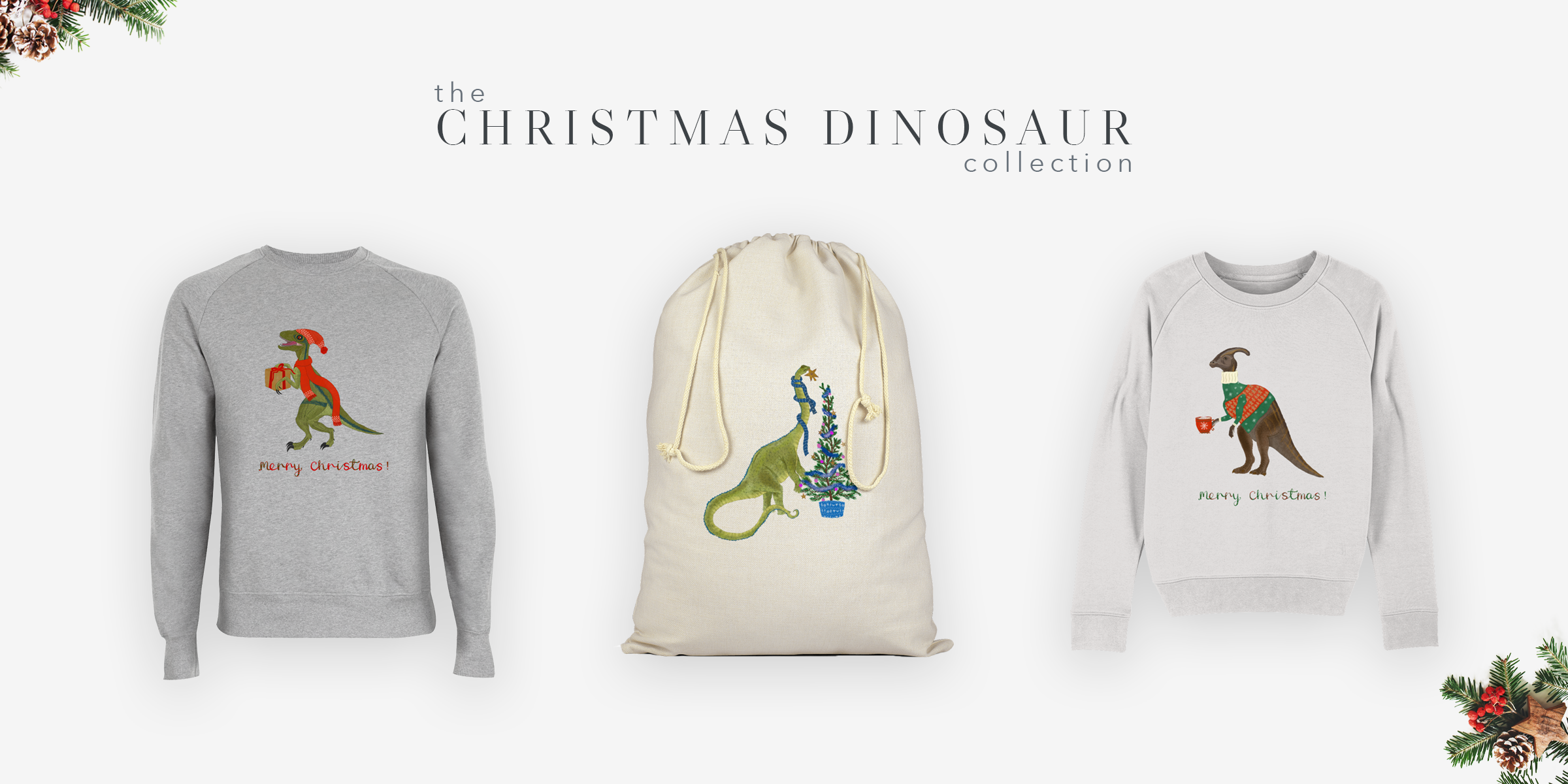 The Christmas Dinosaur Collection - Poppins & Co.