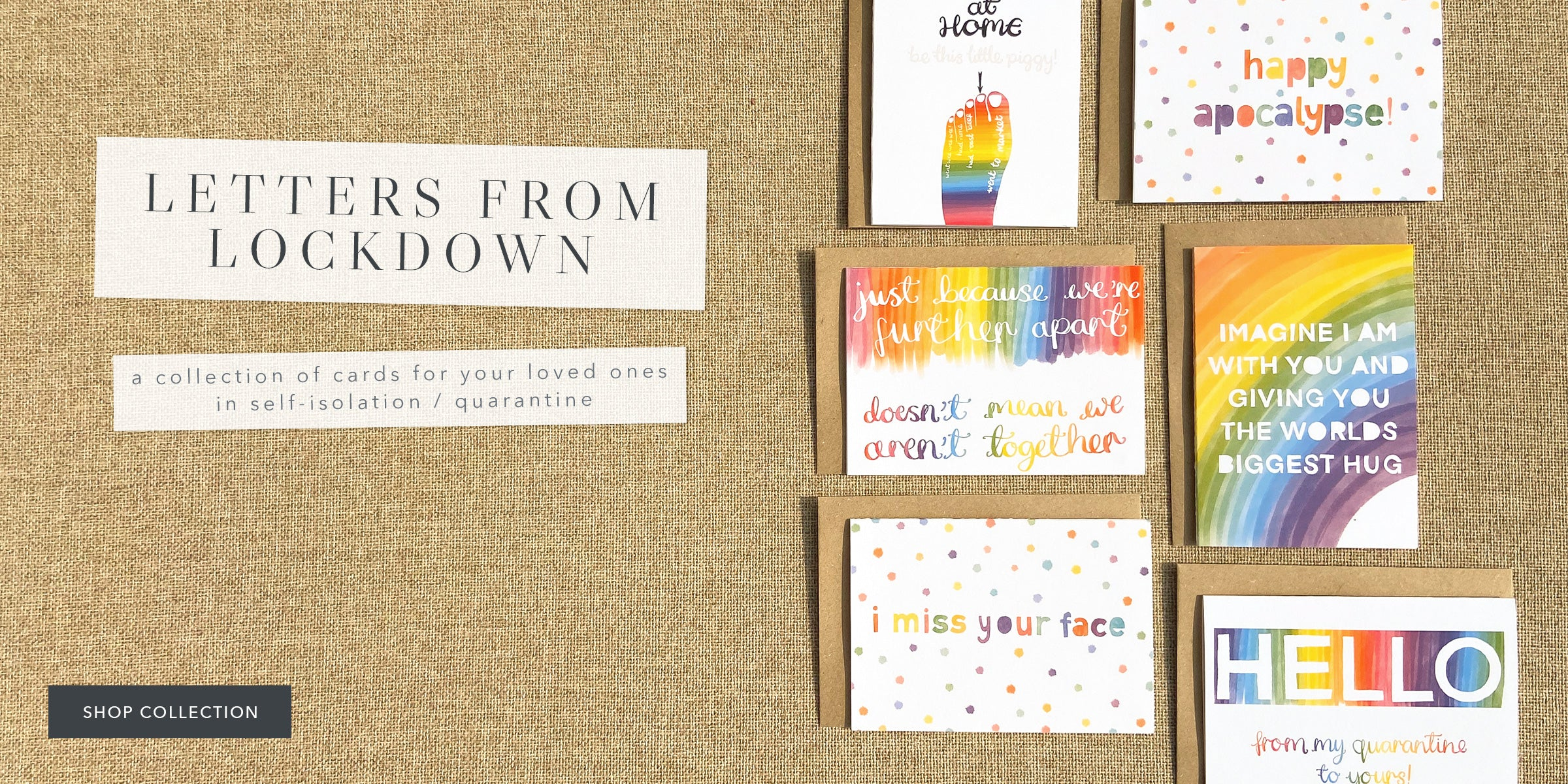 Letters From Lockdown Cards For Quarantine Card Collection for Loved ones in Self-Isolation