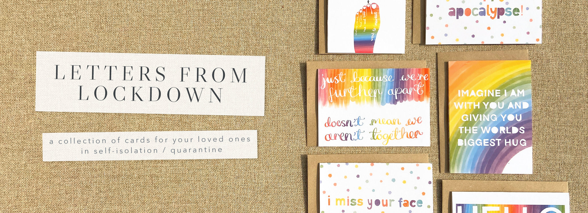 Letters From Lockdown Collection of Quarantine Cards For Those In Self Isolation - Poppins & Co.