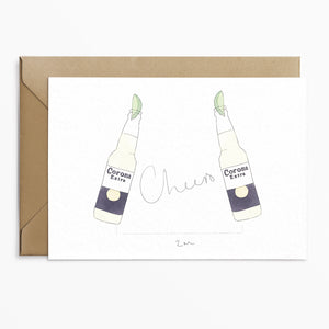 Cheers Corona Lockdown Card - Phoebe Florence x Poppins & Co.