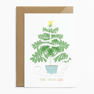Christmas Tree & Loo Roll Card - Phoebe Florence x Poppins & Co.