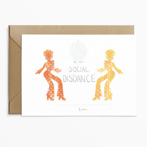 Social Disdance Lockdown Card - Phoebe Florence x Poppins & Co.