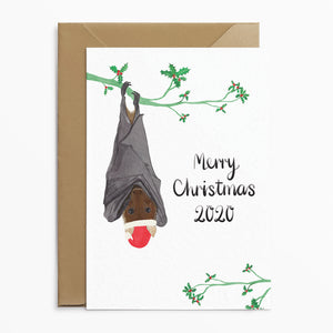 Funny Bat Christmas Card - Poppins & Co.